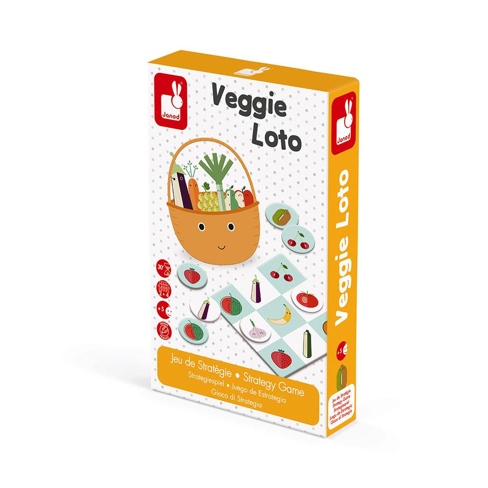 Купить Janod Игра настольная лото Фрукты-овощи , Китай