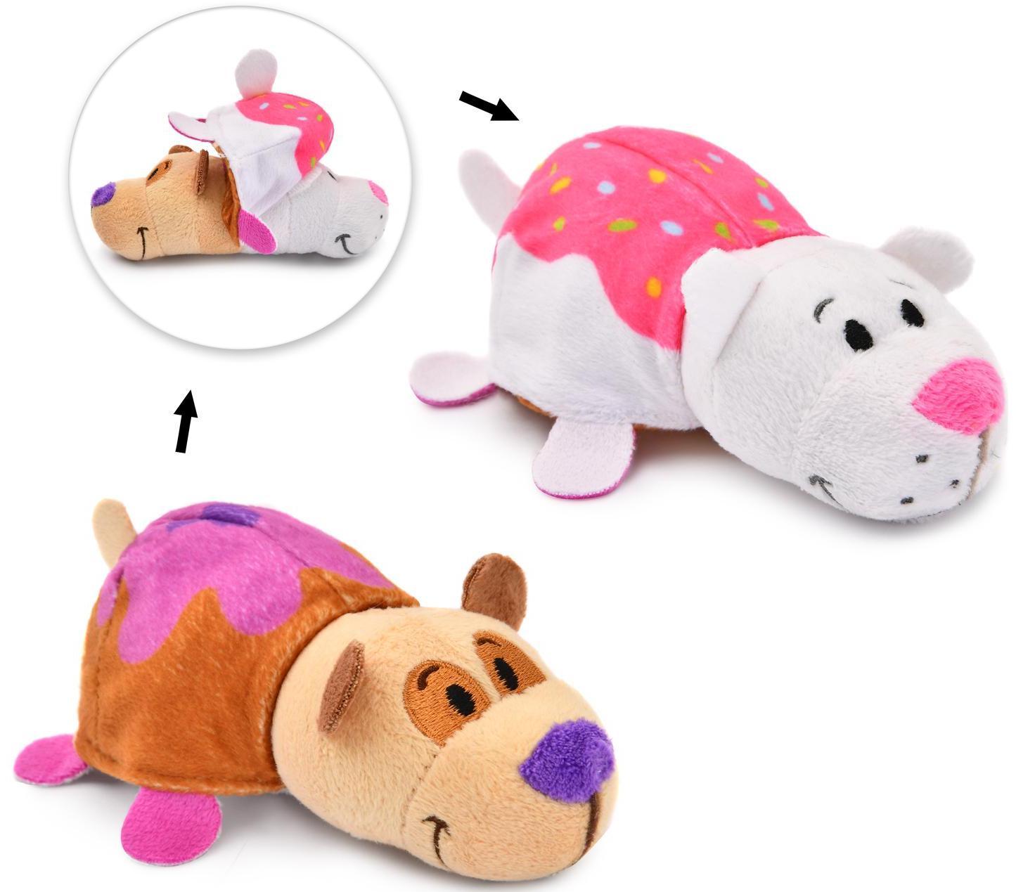 Купить 1Toy Панда - Кошечка с ароматом Ням-Ням - 40 см - мягкая игрушка вывернушка, Вывернушки 1Toy, Китай