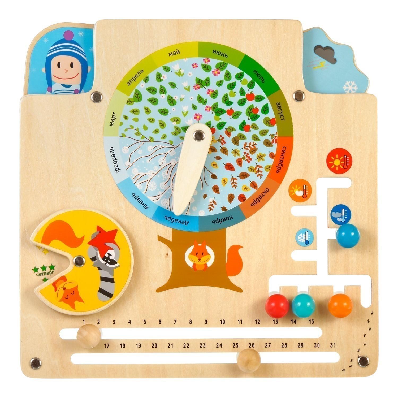 Купить МДИ Календарь природы Д441 - Бизиборд, Мир деревянных игрушек, Китай