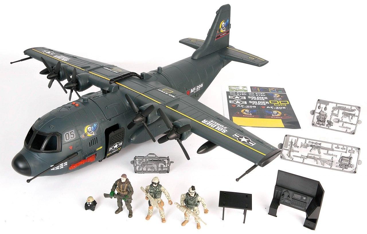 Игровой набор CHAP MEI 521015 Военно-транспортный самолёт (звук, свет)