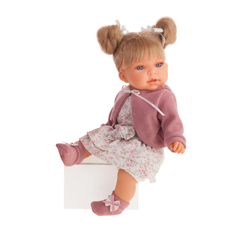 Купить Antonio Juan Озвученная кукла Альма в фиолетовом, 37 см, Испания