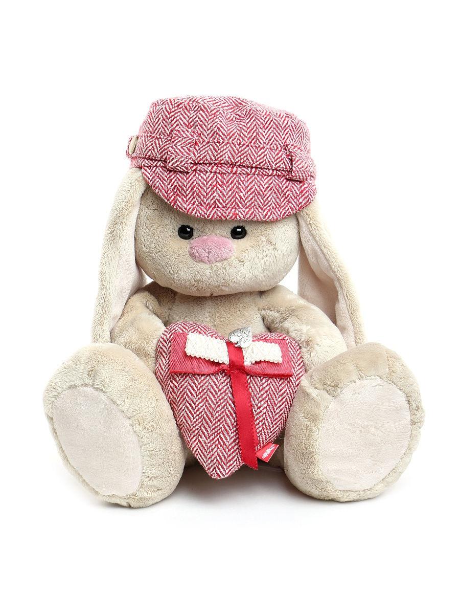 Купить Budi Basa мягкая игрушка Зайка Ми в кепке и с сердцем, SidM-295, 23 см., Россия