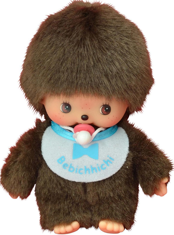 Купить Бэбичичи 15 см мальчик в голубом слюнявчике, Monchhichi, Китай