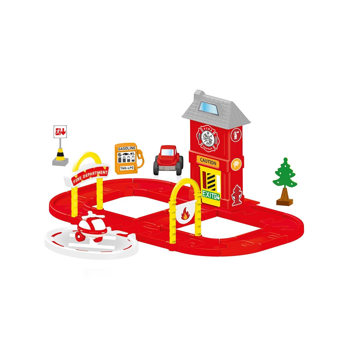 Купить Dolu Игровой набор пожарная станция с круговой дорогой, Турция