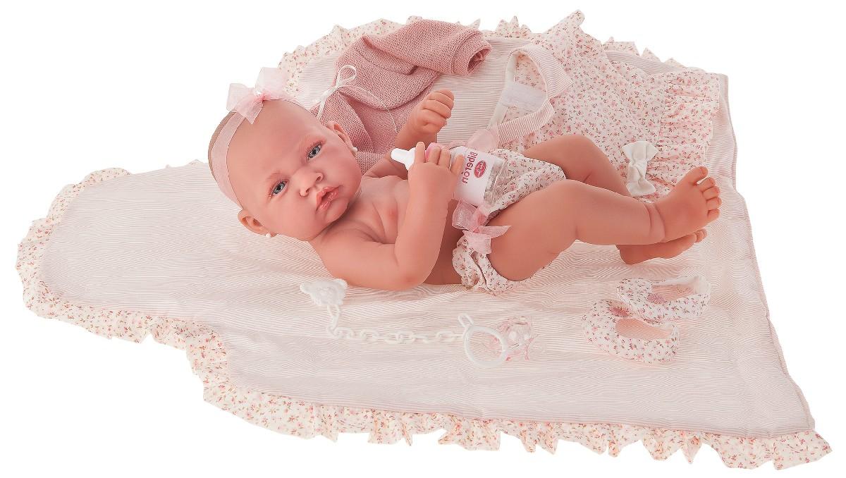 Antonio Juan Кукла-младенец Африка в розовом, 42 см