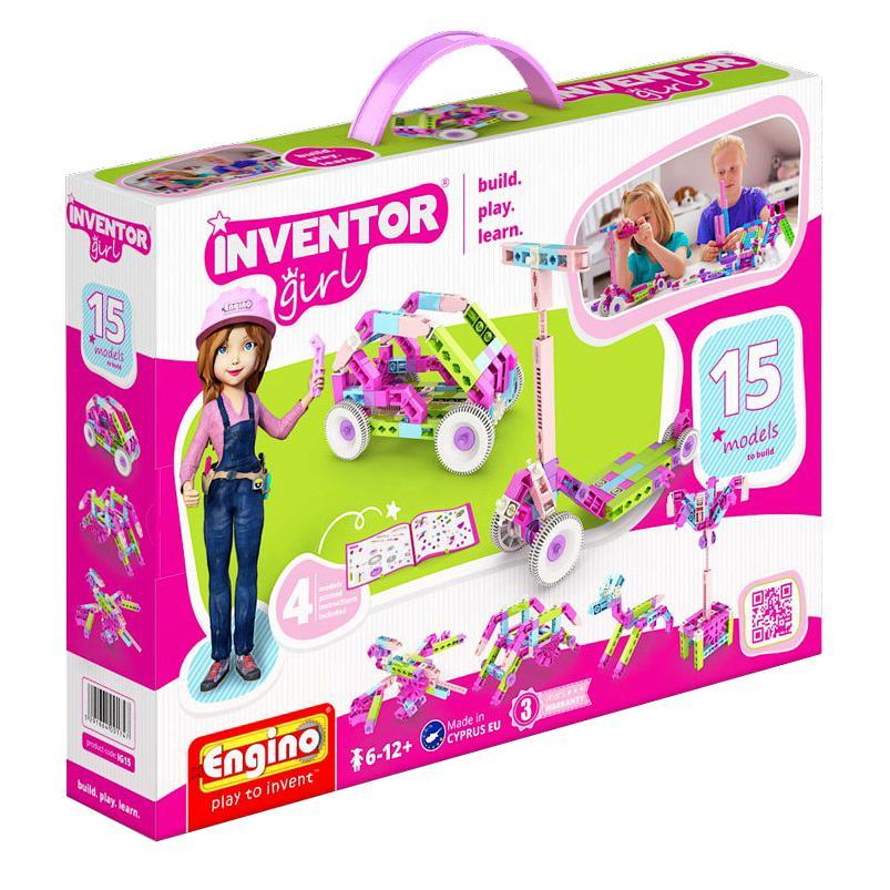 Купить Конструктор ENGINO IG15 INVENTOR GIRLS Набор из 15 моделей, Кипр