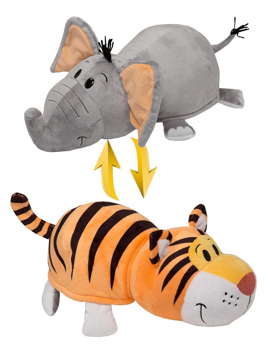 Купить Мягкая игрушка 1Toy «Вывернушка. Слон-Тигр» 35 см, Вывернушки 1Toy, Китай
