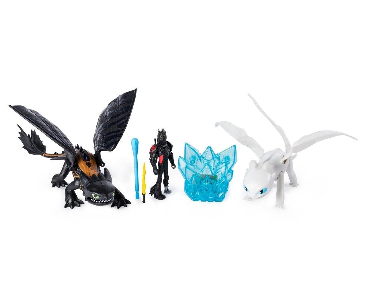 Купить Spin Master Dragons Игровой набор Беззубик и Дневная Фурия с люминесцентным кристаллом, Китай
