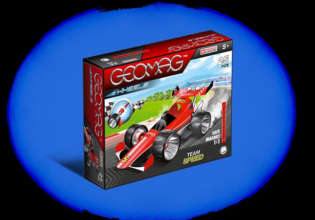 Купить Магнитный конструктор GEOMAG 710 Машина гоночная красная, Швейцария