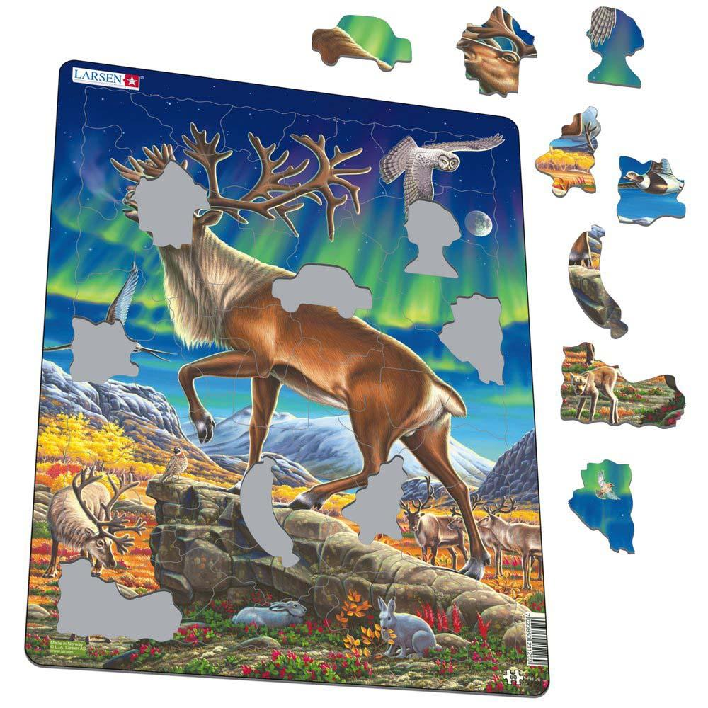 Купить Пазл Larsen Северный олень , 60 элементов, Норвегия