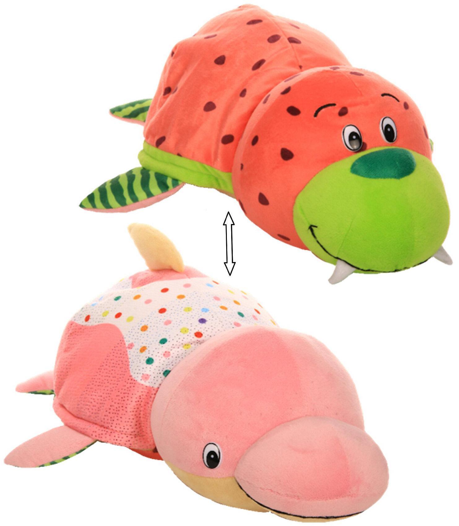 Купить 1Toy Морж-дельфин с ароматом - Ням-Ням | 35 см - мягкая игрушка вывернушка, Вывернушки 1Toy, Китай