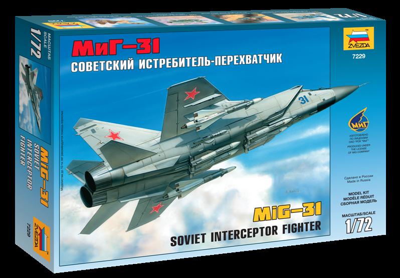 Купить Модель для склеивания ZVEZDA 7229 Самолет Миг-31 , Россия