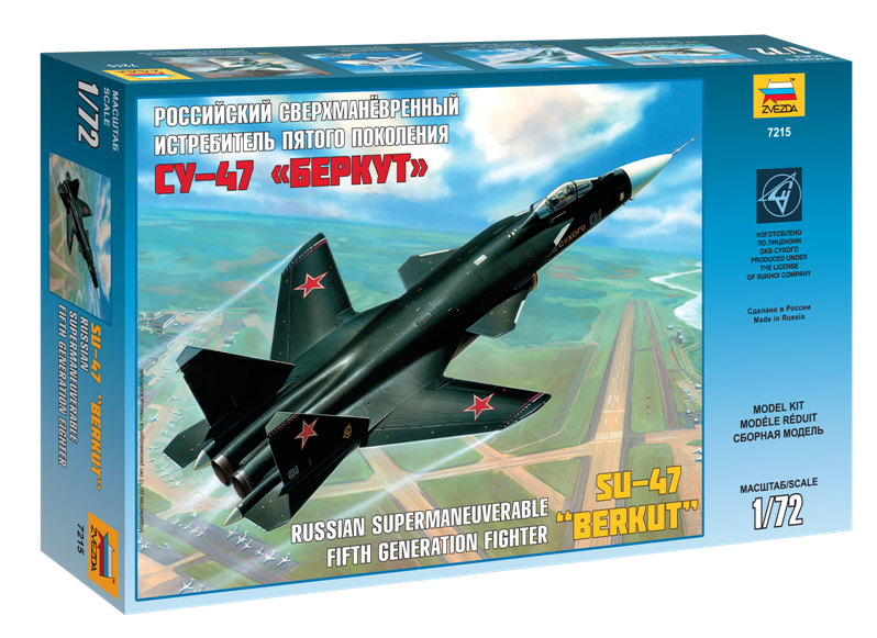 Купить Модель для склеивания ZVEZDA 7215 Самолет Су-47 беркут , Россия