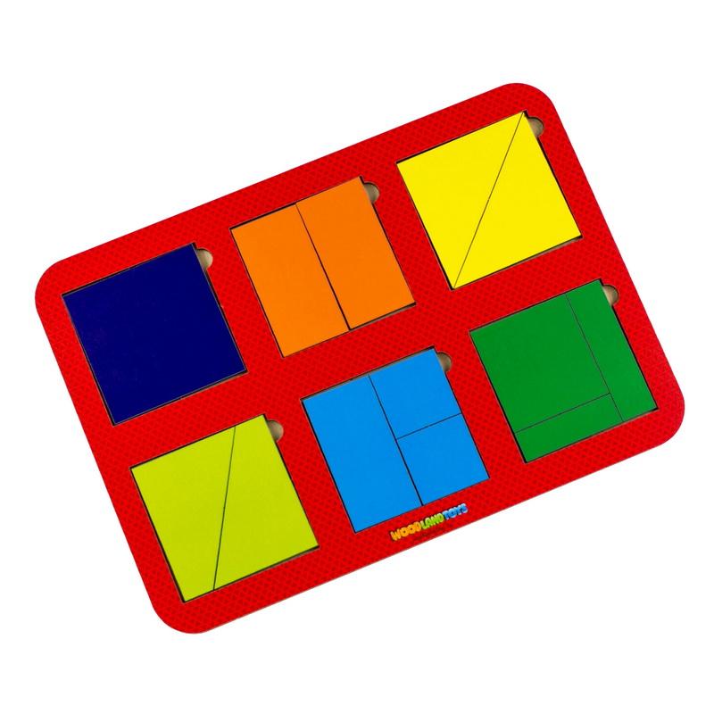 Купить WOODLAND Рамка-вкладыш Сложи квадрат 6 квадратов, уровень 1, 064301 , Россия