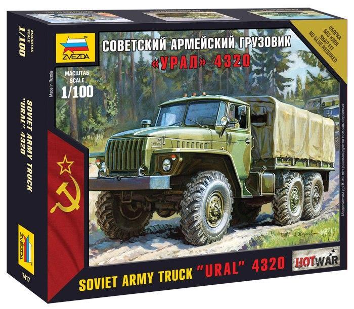 Купить Модель для склеивания ZVEZDA 7417 Советский армейский грузовик Урал 4320., Россия