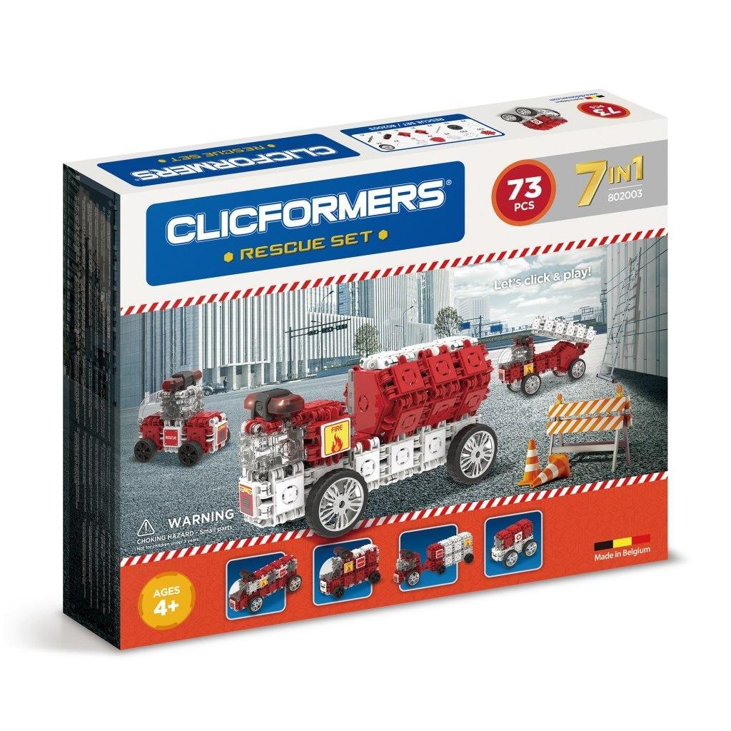 Купить Конструктор CLICFORMERS 802003 Rescue set 73 детали, Бельгия