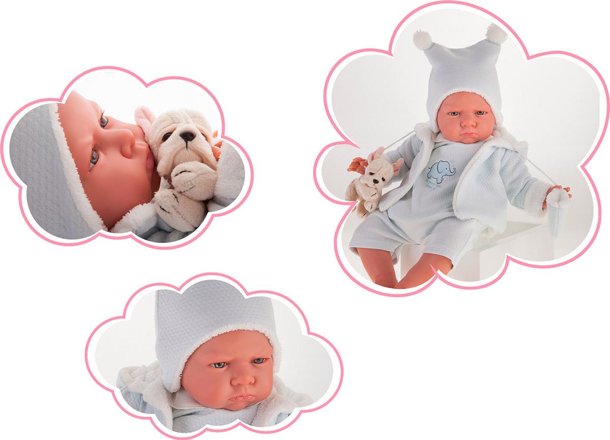 Antonio Juan 8157B Кукла Реборн младенец Марисоль в голубом, 52см
