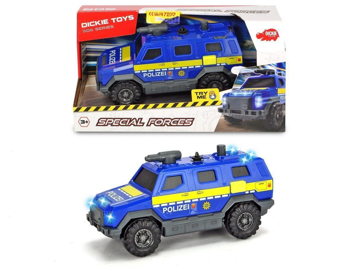 Купить Dickie Toys машинка Полицейский внедорожник 18 см, свет, звук, водяной насос 3713009, Китай