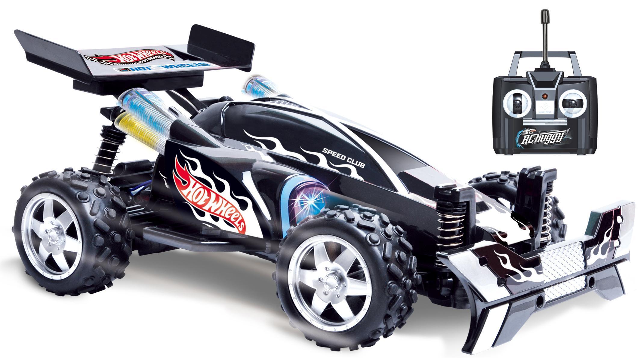 Hot Wheels Т10984 багги на р/у, cо светом, чёрная