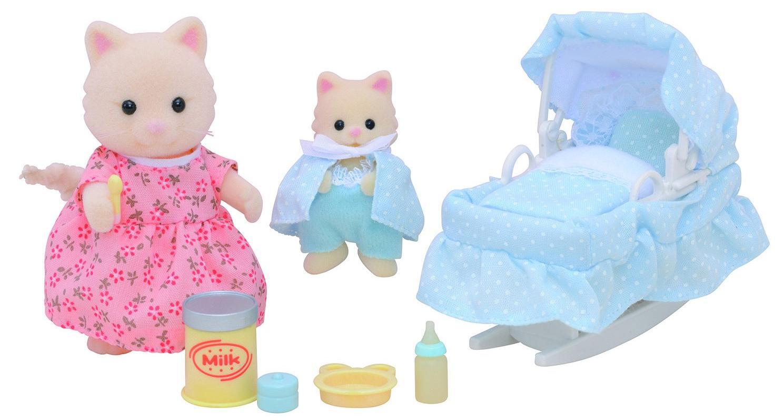 Купить Sylvanian Families Мама с малышом и колыбелькой - игровой набор фигурок, Китай