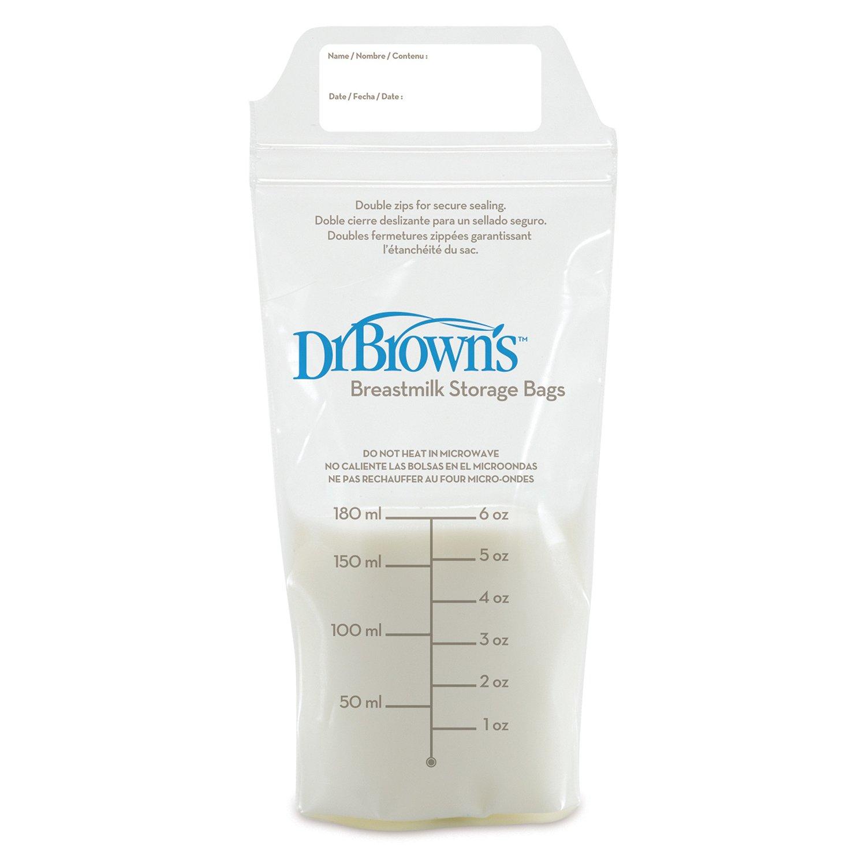 Купить Dr.Brown's Пакеты для хранения грудного молока 180 мл - 25 шт., Китай
