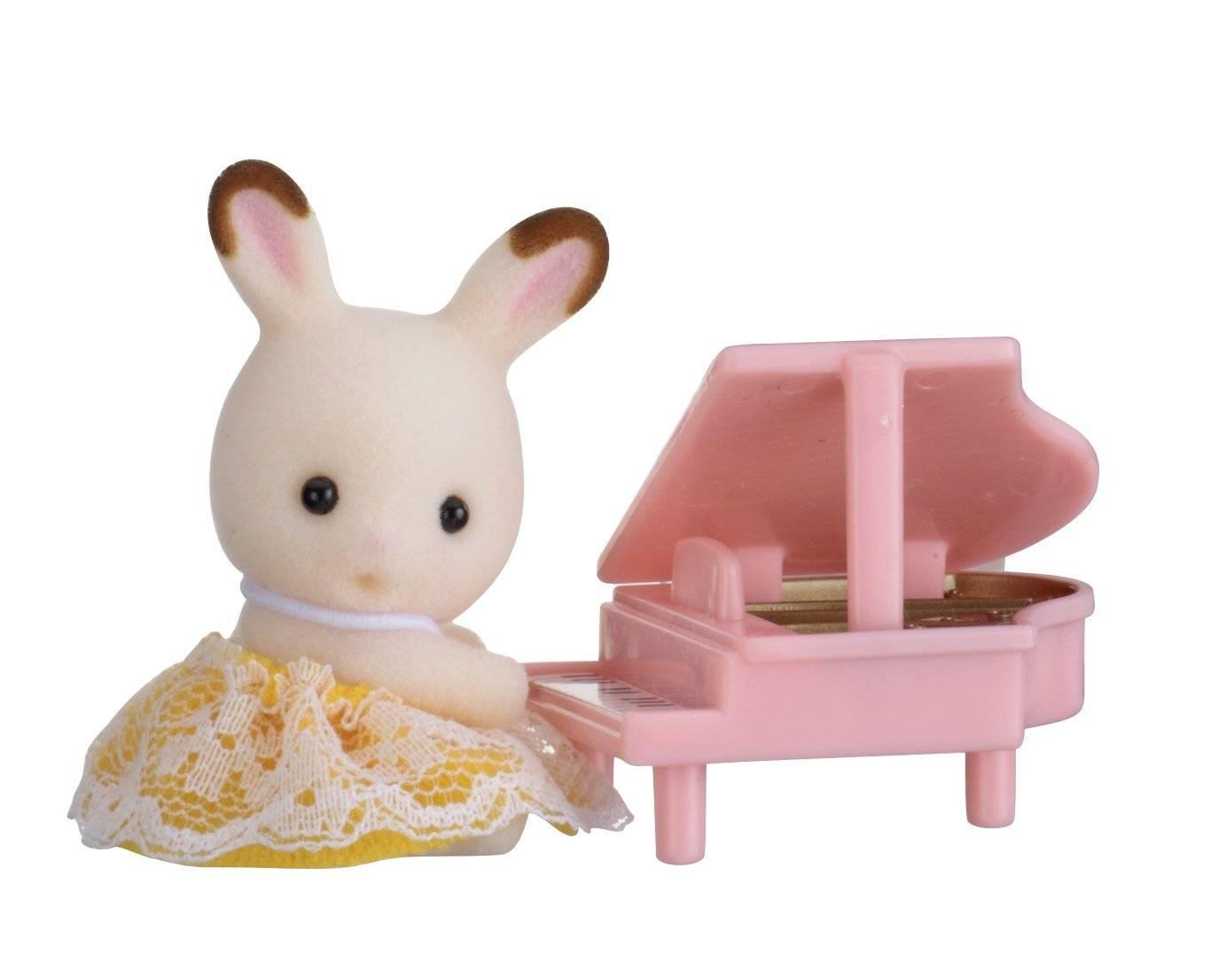 Купить Sylvanian Families Младенец в пластиковом сундучке Кролик и рояль, Китай