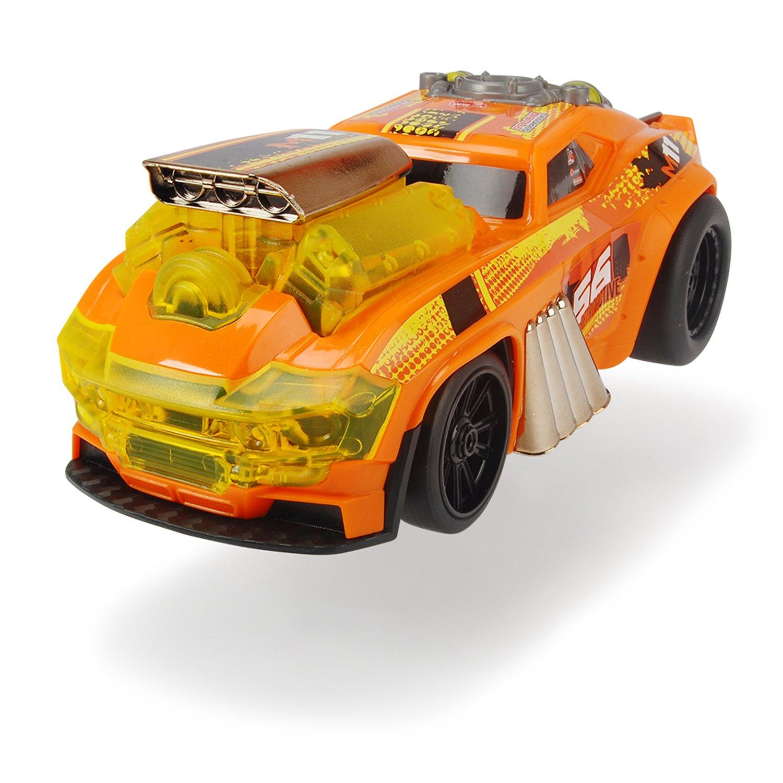 Купить Dickie Toys машинка Демон скорости моторизированная 25см, оранжевая, свет, звук, 3764008, Китай