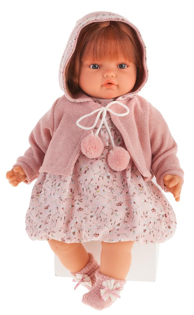 Antonio Juan 1671Bl Озвученная Кукла Изабелла в светло-розовом, 42 см