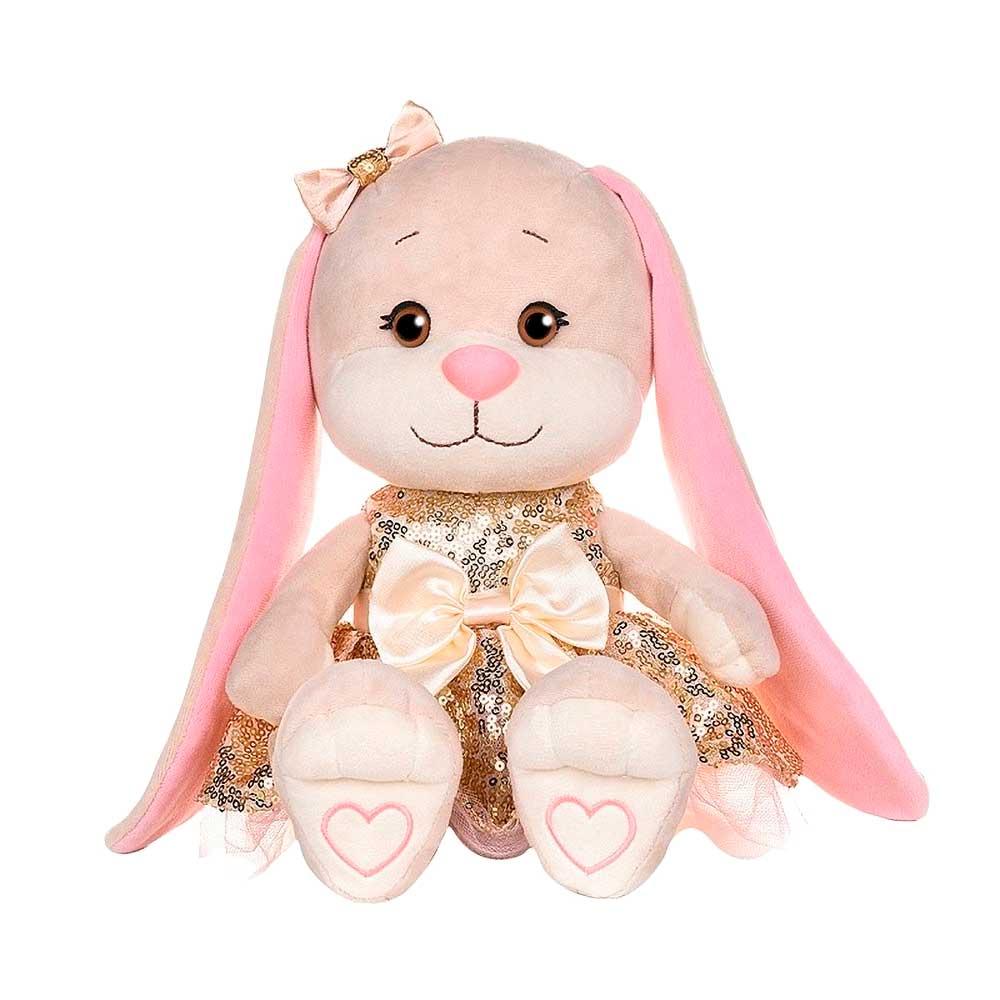 Купить Jack&Lin Мягкая игрушка Зайка в золотом платьице с пайетками , 20 см, Китай