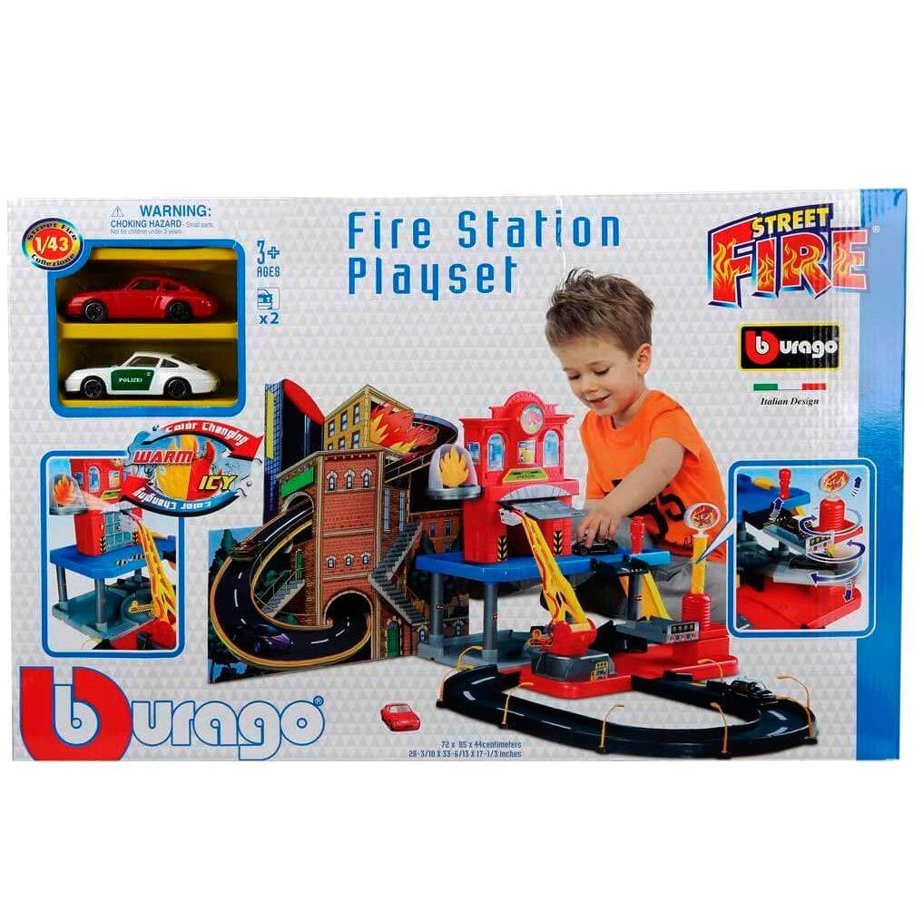 Bburago Пожарная станция Street Fire FIRE STATION PLAYSET 1:43 18-30043