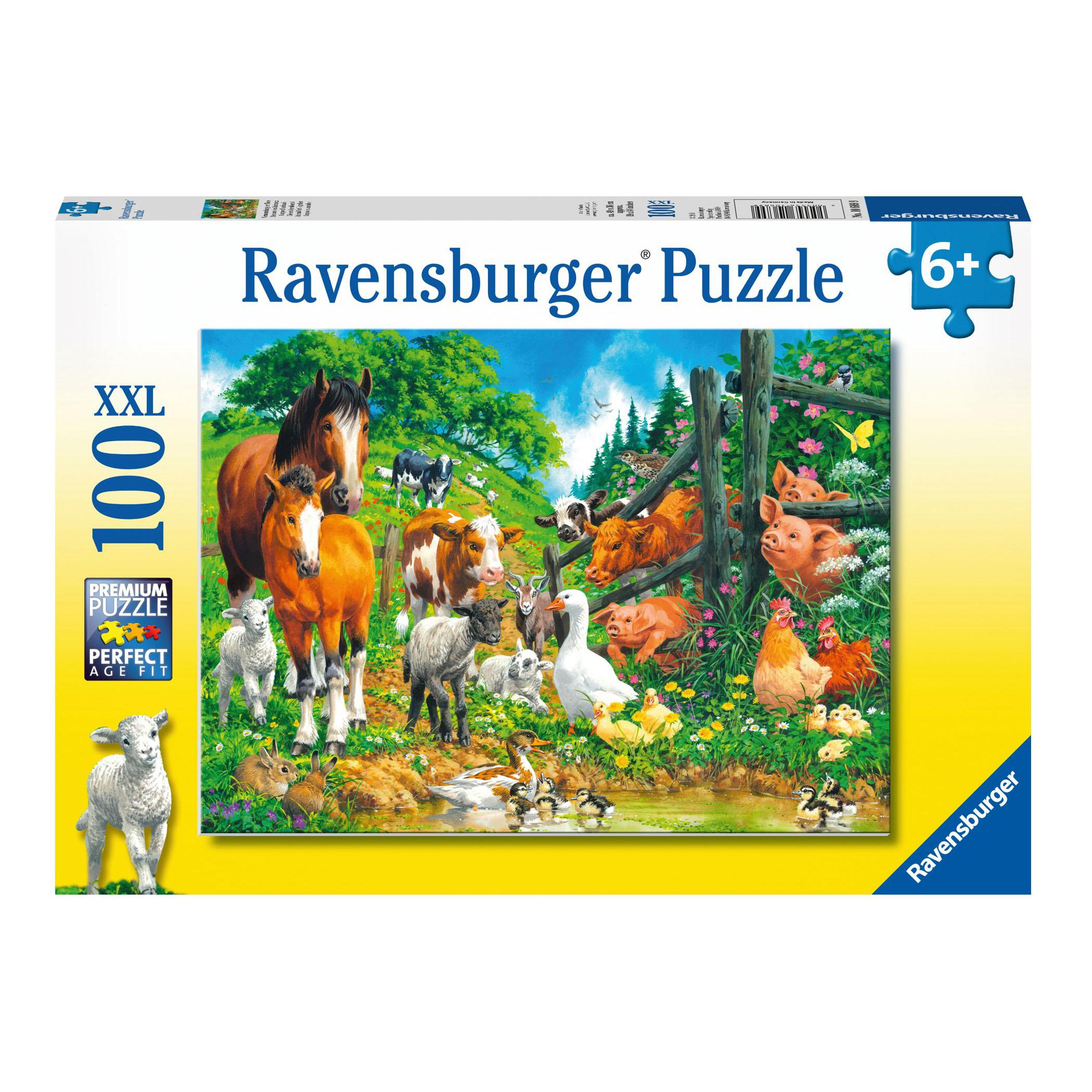 Купить Ravensburger Пазл Встреча животных , 100 элементов, Германия