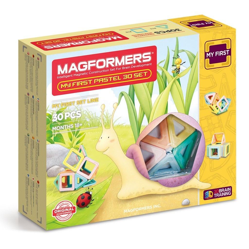 Купить Магнитный конструктор MAGFORMERS 702013 My First Pastel Set 30, Китай