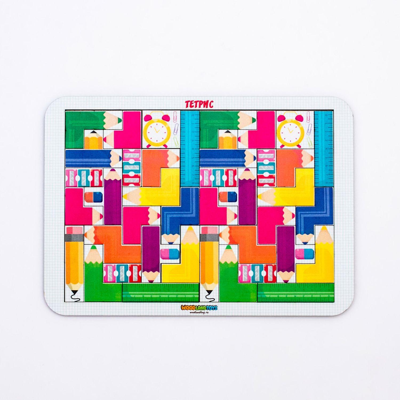 Купить Логическая игра WOODLAND Тетрис большой Цветные карандаши 065106, Россия