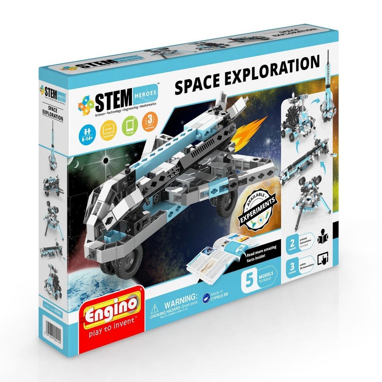 Купить Конструктор ENGINO STH51 STEM Heroes. Набор из 5 моделей. Освоение космоса, Кипр