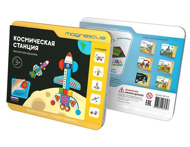 Купить Мозаика магнитная MAGNETICUS MC-013 Космическая станция, Россия