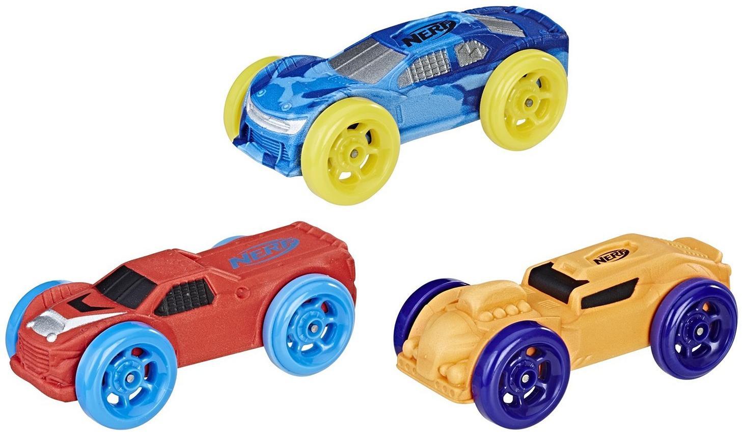 Купить Hasbro Nerf Nitro Машинки 3 шт - красная, оранжевая, голубой комуфляж , Китай