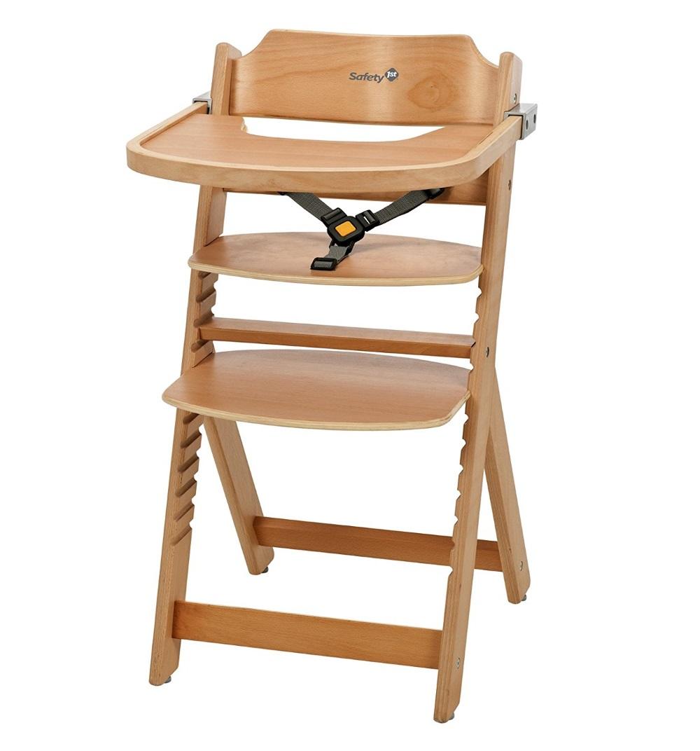 Купить Стульчик для кормления Safety 1st Timba with Tray, (без мягкого вкладыша) цвет Natural Wood, Китай
