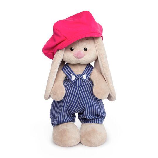Мягкая игрушка BUDI BASA StS-258 Зайка Ми в комбинезоне с кепкой 25см