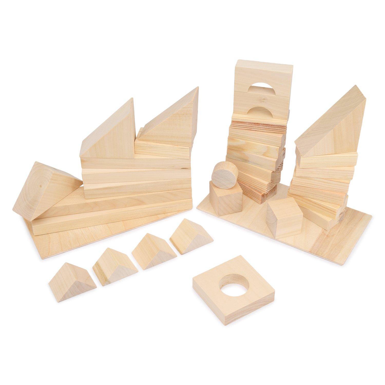 Купить Paremo Конструктор деревянный 35 деталей, неокрашенный, в пакете, Россия