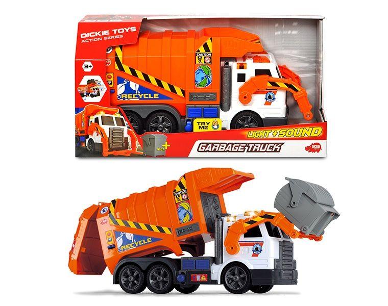 Купить Dickie Toys машинка Мусоровоз 41 см, свет, звук, 3308369029, Китай