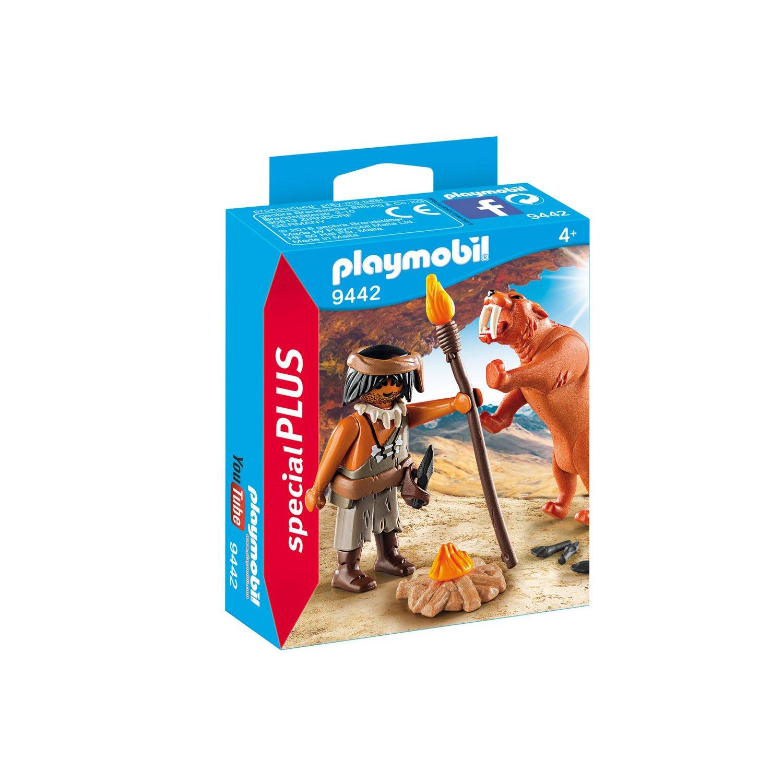 Купить Playmobil Конструктор Экстра-набор: Пещерный человек с саблезубым тигром, Мальта