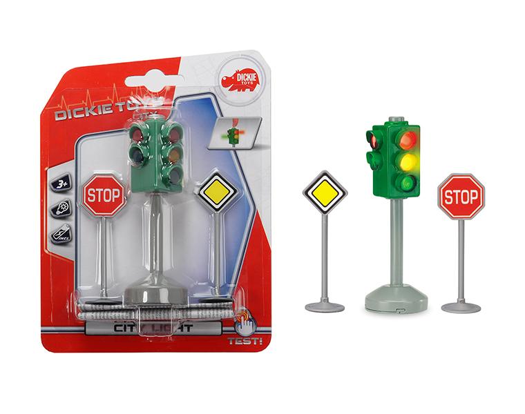 Купить Светофори знаки дорожного движения 12 см Dickie Toys 3341000029, Китай
