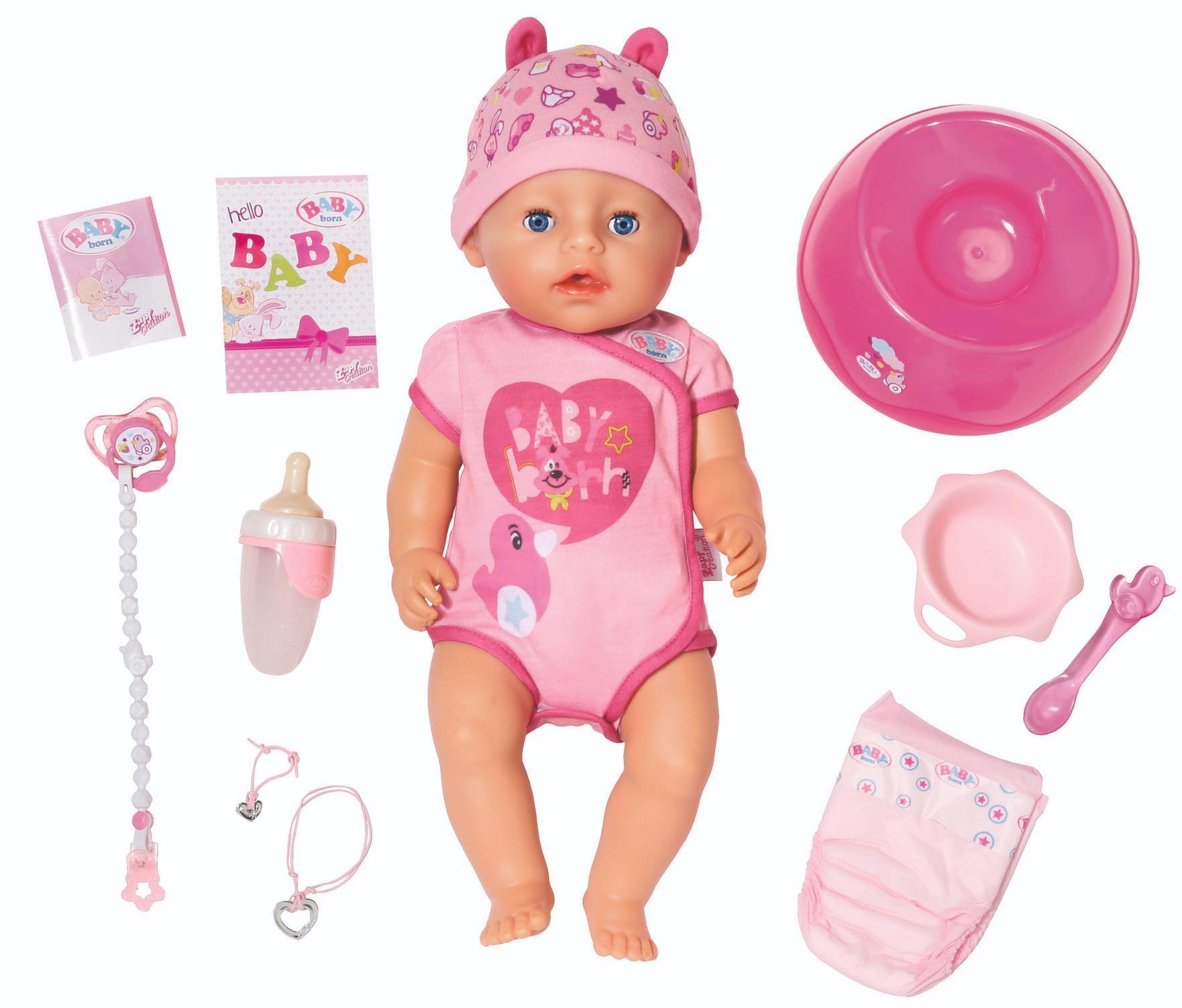 """Zapf Creation """"Baby born - Девочка 43 см"""" - интерактивная кукла"""