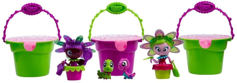 Купить Цветули 3 горшочка и 2 куколки - Т15834 - набор для выращивания цветов, 1toy, Китай