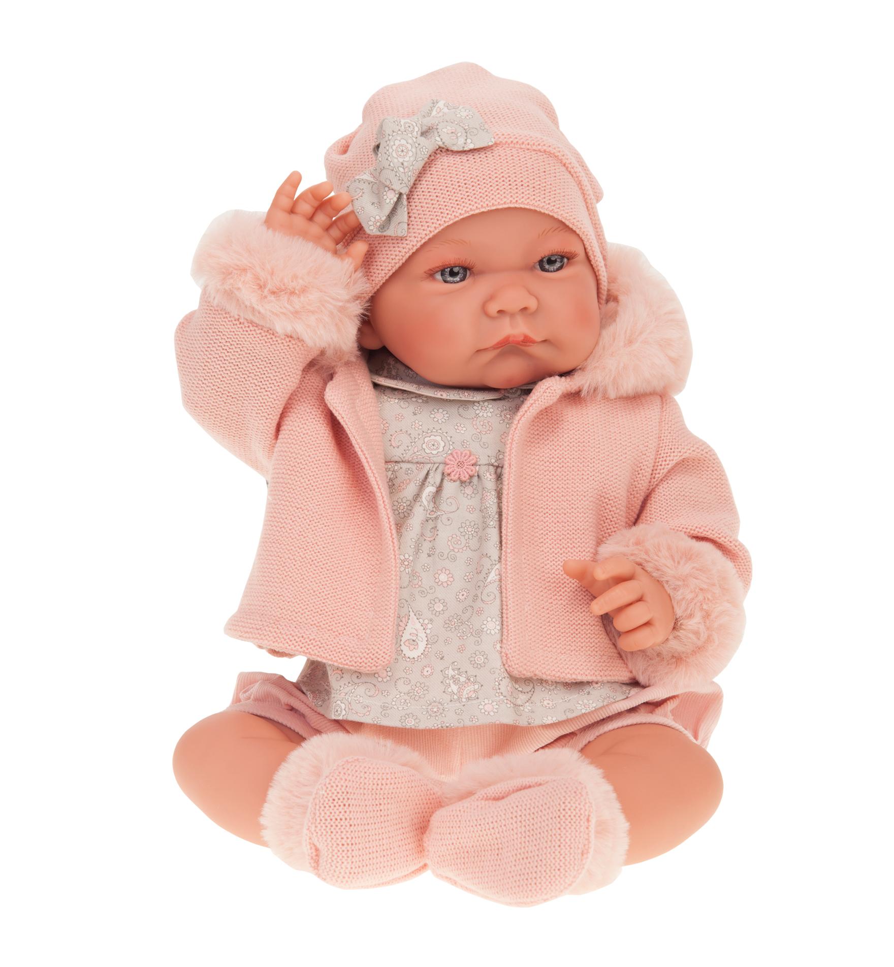 Antonio Juan 3378P Кукла Наталия в розовом,40см