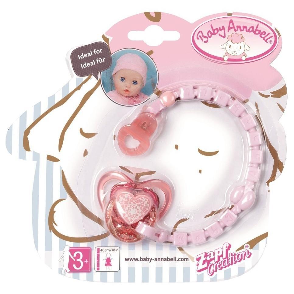 """Baby Annabell """"Соска с цепочкой, розовая"""""""