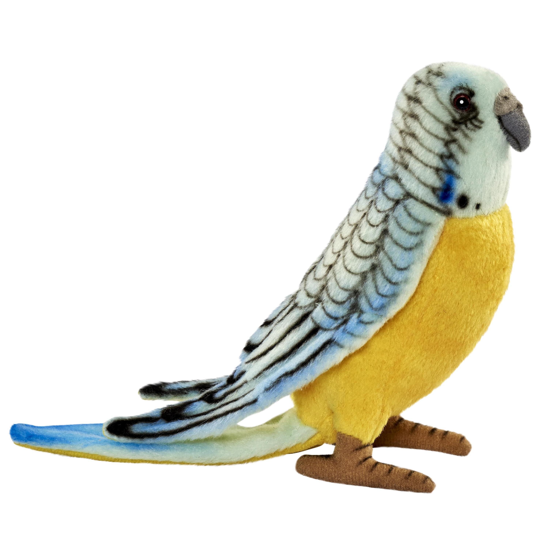 Купить Мягкая игрушка Hansa Попугай волнистый голубой , 15 см, Hansa Creation, Филиппины