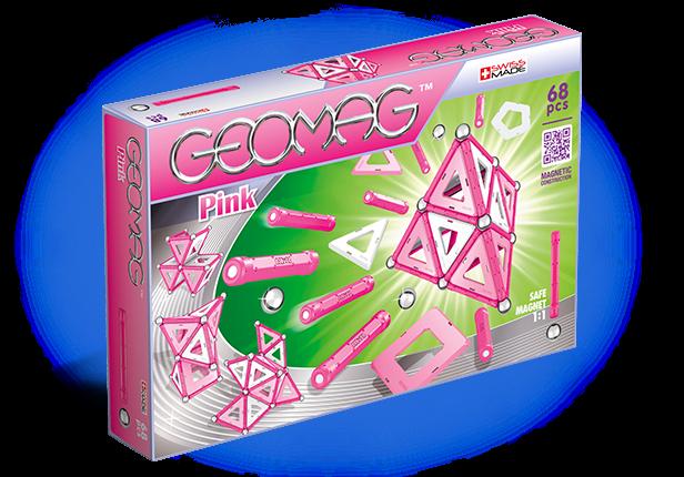Купить Магнитный конструктор GEOMAG 342 Pink 68 деталей, Швейцария