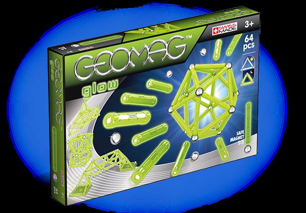 Купить Магнитный конструктор GEOMAG 336 Glow 64 детали, Швейцария