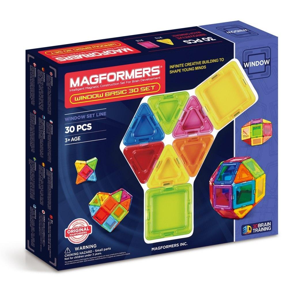 Купить Магнитный конструктор MAGFORMERS 714002 Window Basic 30 set, Китай